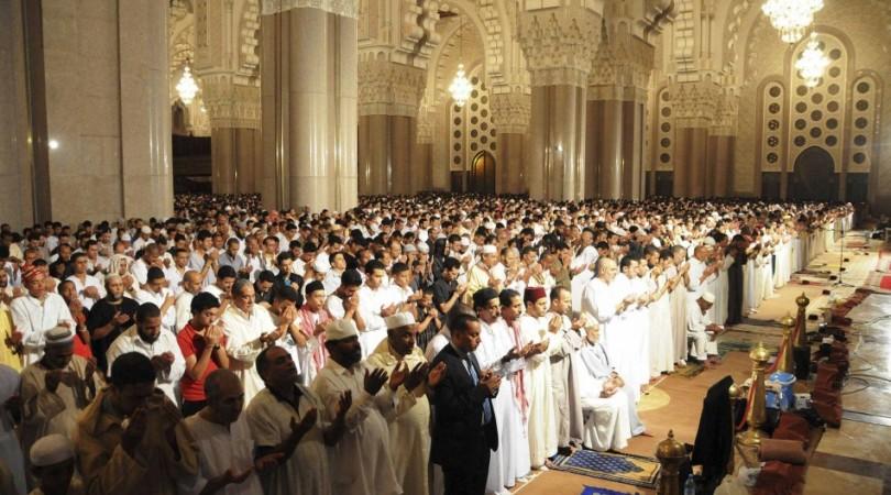Praying eid in Masjid Hassan II