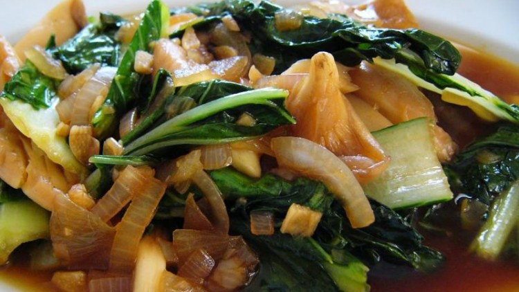 Sauté Mushrooms-Mustard Greens