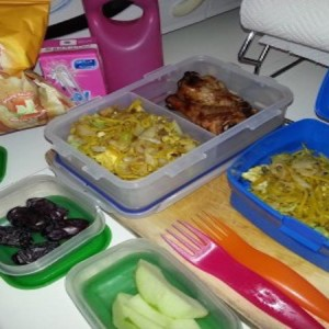 Back to School! Lunch Pack Menu & Healthy Breakfast Organization